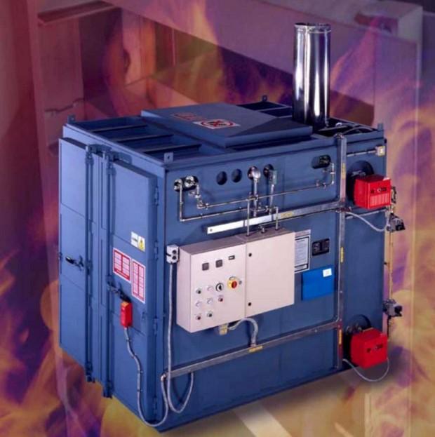 PCP Pyrolysugnar används för färgborttagning från metallföremål.